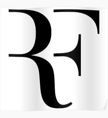 Roger Federer RF Logo Poster