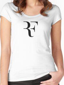 Roger Federer RF Logo Women's Fitted Scoop T-Shirt
