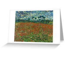Vincent Van Gogh - Poppy field, June 1890  Famous Paintings. Impressionism. Van Gogh Greeting Card