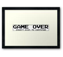 Game over - arcade game Framed Print