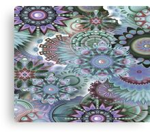 Kaleidoscope Abstract  Fractal Blue Canvas Print