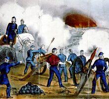 Bombardment and capture of Fredericksburg, Va.-Dec. 11th 1862 - Circa 1880 - Currier & Ives by CrankyOldDude