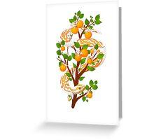 Dreamy Orange Greeting Card