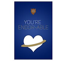 You're Endorable - Star Wars Love Photographic Print
