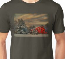 Winter. Snow. Cabin. Unisex T-Shirt