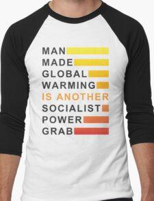 Socialist Power Grab Men's Baseball ¾ T-Shirt