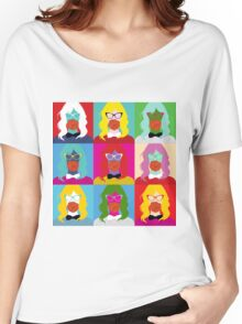 Pop art woman pattern Women's Relaxed Fit T-Shirt