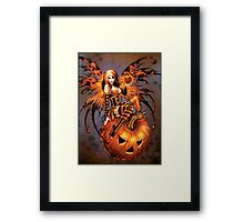 Fairy of Halloween Pumpkin Framed Print