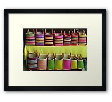 Shopping-bags in the Alsace Framed Print