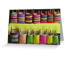 Shopping-bags in the Alsace Greeting Card