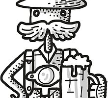 Bavarian Dude Sticker by fabric8