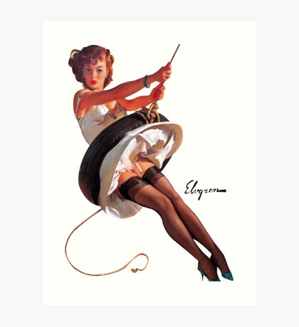 pin up girl Art Print