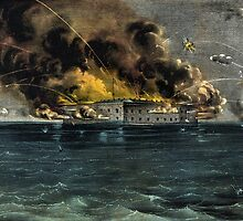 Bombardment of Fort Sumter, Charleston Harbor - 1861 - Currier & Ives by CrankyOldDude