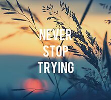 Never stop trying by Marc2395