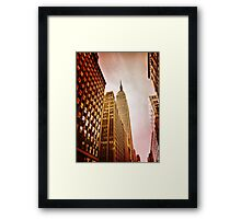 NYC including Empire State Building  Framed Print