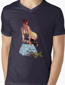 pin up girl Mens V-Neck T-Shirt
