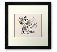 Flowers & Bird 2  Framed Print