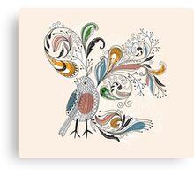 Flowers & Bird 2  Canvas Print