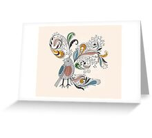 Flowers & Bird 2  Greeting Card
