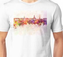 Harvard skyline in watercolor background Unisex T-Shirt