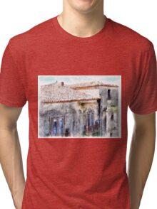 Vatolla: foreshortening with building Tri-blend T-Shirt