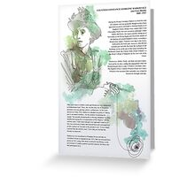 1916 commemorative print: Countess Markievicz Greeting Card