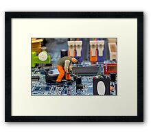 Worker Framed Print