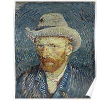 Vincent Van Gogh - Self-portrait with grey felt hat, September 1887 - October 1887 Poster