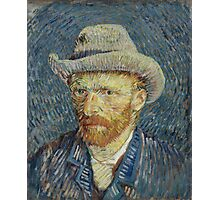 Vincent Van Gogh -  Post- Impressionism Oil Painting , Self-portrait with grey felt hat, September 1887 - October 1887 Photographic Print