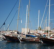Traditional Turkish Gulets In Marmaris Harbour by taiche