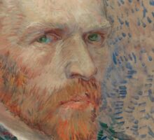 Vincent Van Gogh -  Post- Impressionism Oil Painting , Self-portrait, March 1887 - June 1887 Sticker
