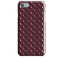 Carbon fibre - red with silver wire reinforcing iPhone Case/Skin