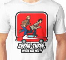 Zebra-Three, Where Are You? Unisex T-Shirt