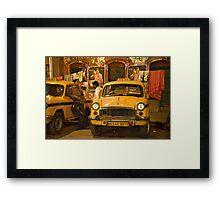 Taxi Talk Framed Print