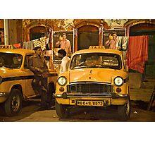 Taxi Talk Photographic Print