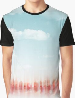 city skyline illustration - abstract cityscape 6 Graphic T-Shirt