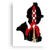 Tintin's Rocket Canvas Print