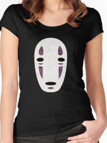 No Face - Spirited Away Women's Fitted Scoop T-Shirt