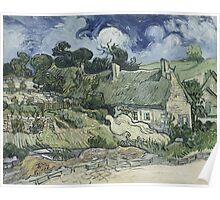 Vincent Van Gogh - Thatched Cottages at Cordeville, 1890 Poster