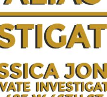 'Alias Investigations' Jessica Jones Inspired Print Sticker