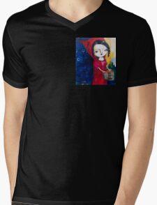 """Red"" Mens V-Neck T-Shirt"