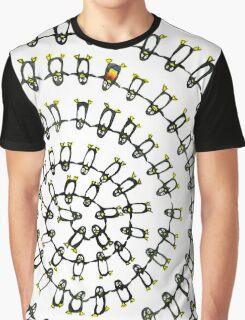 Penguins Spiral Graphic T-Shirt