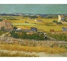 Vincent Van Gogh Post - Impressionism Oil Painting , The harvest, June 1888 - 1888 Photographic Print