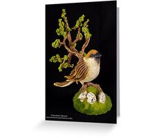 Arborescent sparrow Greeting Card