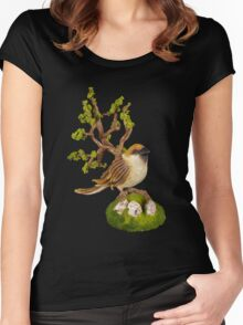 Arborescent sparrow Women's Fitted Scoop T-Shirt