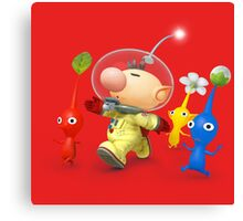 captain olimar and pikmin super smash bros Canvas Print