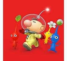 captain olimar and pikmin super smash bros Photographic Print