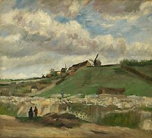 Vincent Van Gogh - The hill of Montmartre with stone quarry, June 1886 - July 1886 by famousartworks