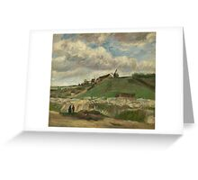 Vincent Van Gogh Post- Impressionism Oil Painting , The hill of Montmartre with stone quarry, June 1886 - July 1886 Greeting Card