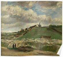 Vincent Van Gogh Post- Impressionism Oil Painting , The hill of Montmartre with stone quarry, June 1886 - July 1886 Poster